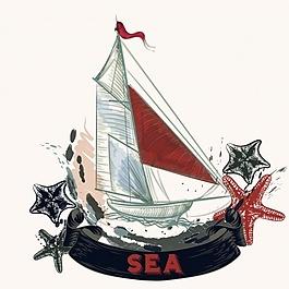船的背景设计
