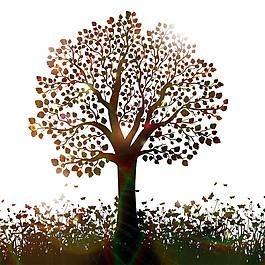 阳光草地绿树图片
