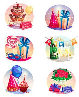 生日鮮花和蛋糕圖片