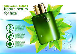 绿叶化妆品海报图片1