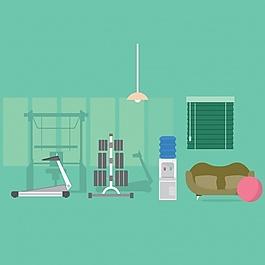 健身房的背景设计