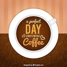 大背景咖啡杯和好短語