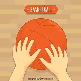 籃球手背景