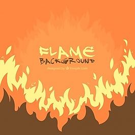 橙色的火焰背景