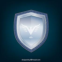 銀盾背景與鷹