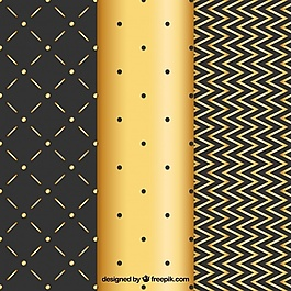 線條和圓點優雅的金色背景
