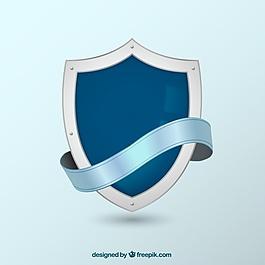帶紋章的盾牌背景