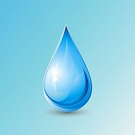 蓝色背景,世界水日
