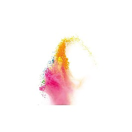 水墨彩色漸變元素