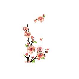 清新唯美粉色花朵元素