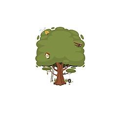 手繪大樹元素