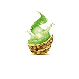 矢量水果菠蘿元素