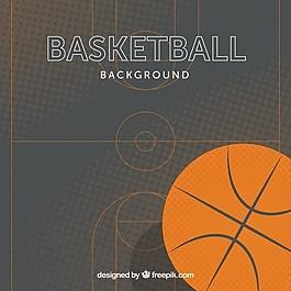 平面设计中的篮球背景