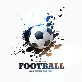 足球背景與墨跡
