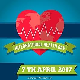 世界衛生日背景與心臟