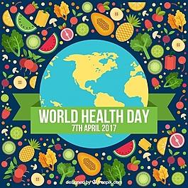 健康日充滿健康食品的美好背景