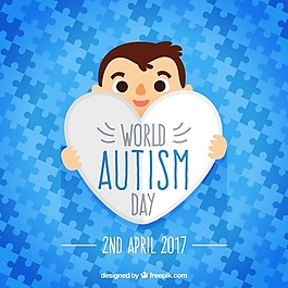 世界自闭症日拼图拼图的蓝色拼图