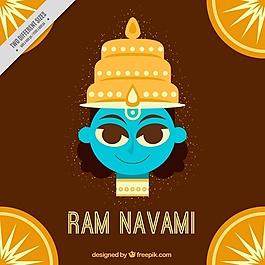 布朗的背景與RAM navami平面設計