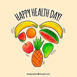 世界衛生日的水果背景