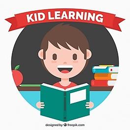 快乐儿童背景与平面设计书