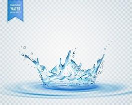 透明背景下的孤立水花效应