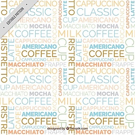 咖啡图案印刷