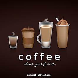咖啡型背景