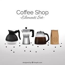 有咖啡輔料的背景