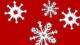 雪花节日视频
