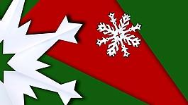 雪花圣诞背景视频