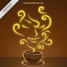 風味咖啡的背景