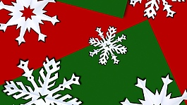 圣诞元素雪花视频