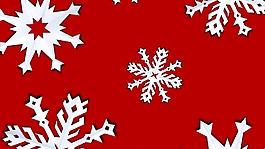雪花造型红色视频背景