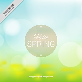 隨著春天的背景,背景虛化效果