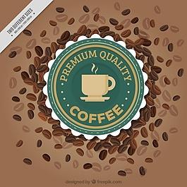 典雅的咖啡豆背景