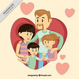 有孩子和心靈的漂亮家庭背景