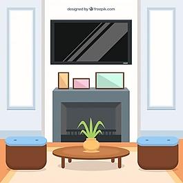 室内客厅的平面设计