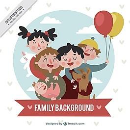 幸福家庭的复古特色