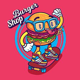 漢堡包適量插畫素材