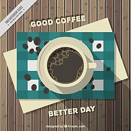 咖啡背景咖啡桌上的咖啡豆
