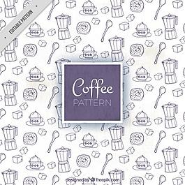 大圖案與手繪咖啡項目