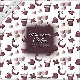 水彩咖啡模式