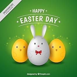 三个复活节彩蛋的背景