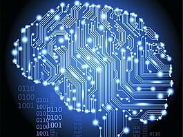科技大腦背景圖片
