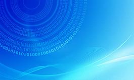 藍色科技背景圖片素材