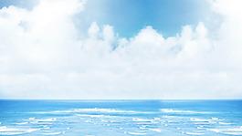 海灘大海藍天風景