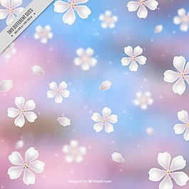迷离的樱花背景