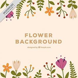 背景與老式花卉