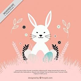 复古风格的复活节兔子背景