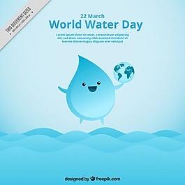 很好的水滴背景与世界